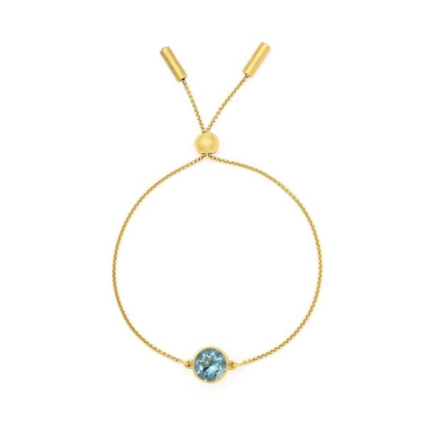Satin Bolo Bracelet With Blue Topaz Moore Jewelers Laredo, TX