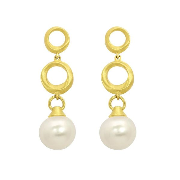 Satin Drop Earrings With Pearls Moore Jewelers Laredo, TX