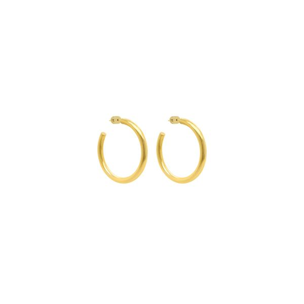 Plated Satin Medium Hoop Earrings Moore Jewelers Laredo, TX