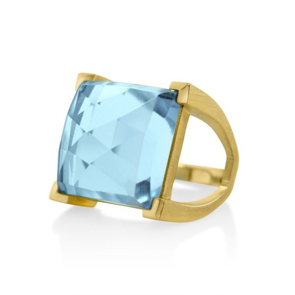 Satin Fashion Ring With Blue Topaz Moore Jewelers Laredo, TX