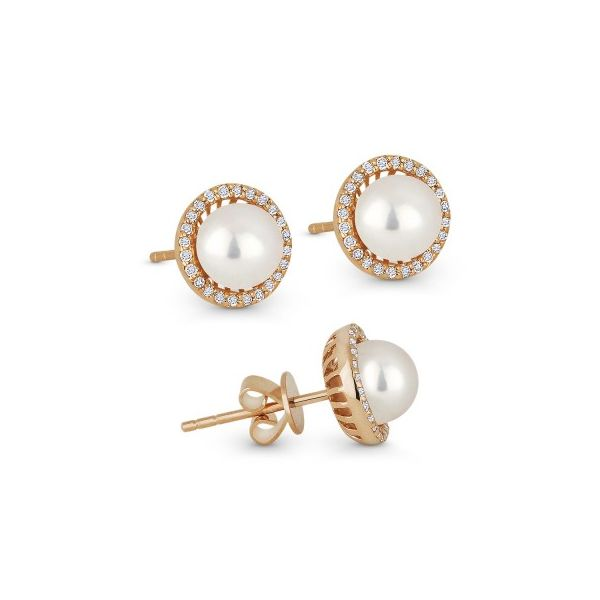 Madison L  Pearl Earrings Morrison Smith Jewelers Charlotte, NC