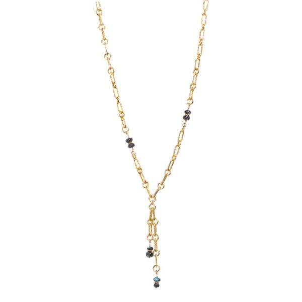 Sterling/Gold Necklace Image 2  ,