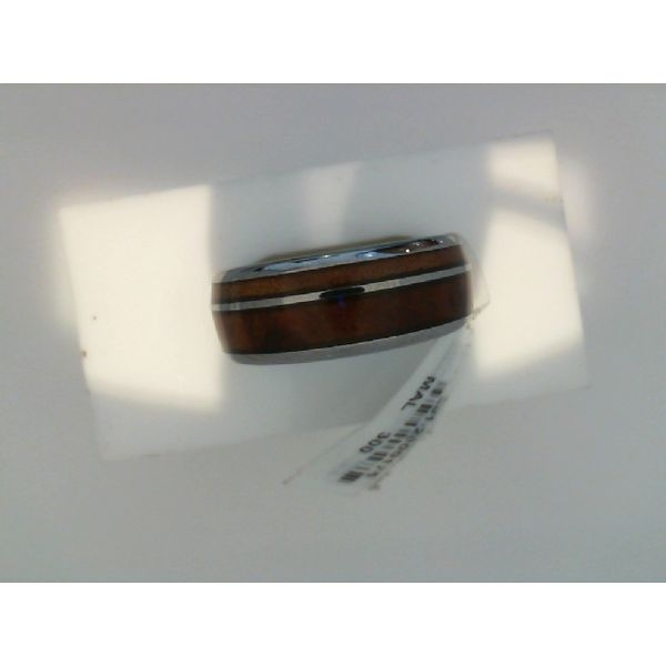 Comfort Fit Domed 8mm Tungsten Carbide Ring With Genuine Wood from Jack Daniels Whiskey Barrel Inlay Moseley Diamond Showcase Inc Columbia, SC
