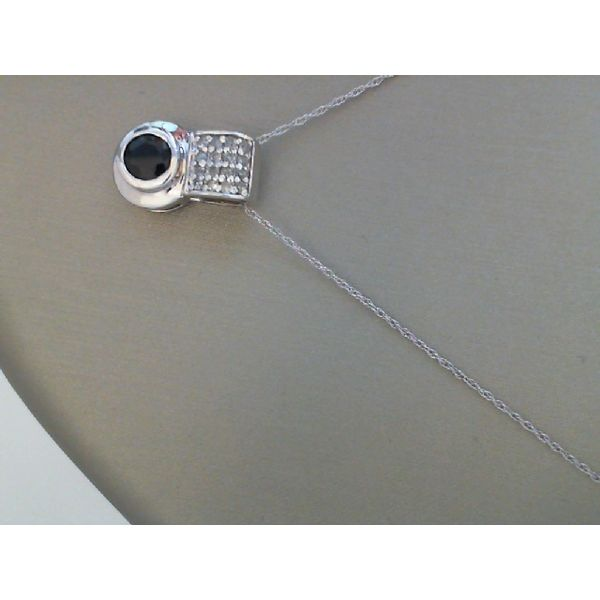 14Kt White Gold Sapphire & Diamond Pendant Moseley Diamond Showcase Inc Columbia, SC