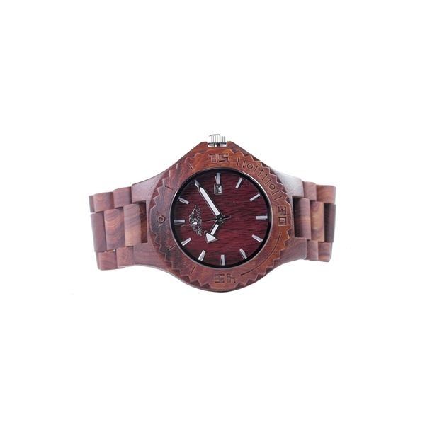 Teak Wood Watch Featuring Date and Japanese Movement Moseley Diamond Showcase Inc Columbia, SC