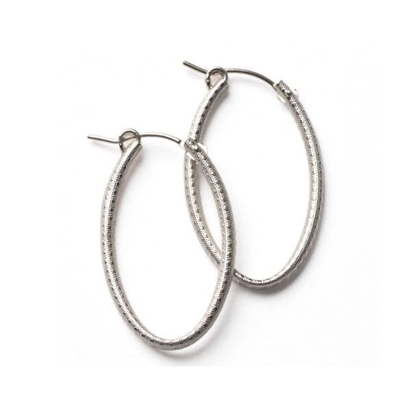 Textured Oval Hoop Earrings Moseley Diamond Showcase Inc Columbia, SC