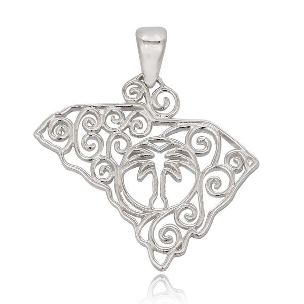 Southern Gates Small Souther Carolina State Pendant with Chain Moseley Diamond Showcase Inc Columbia, SC