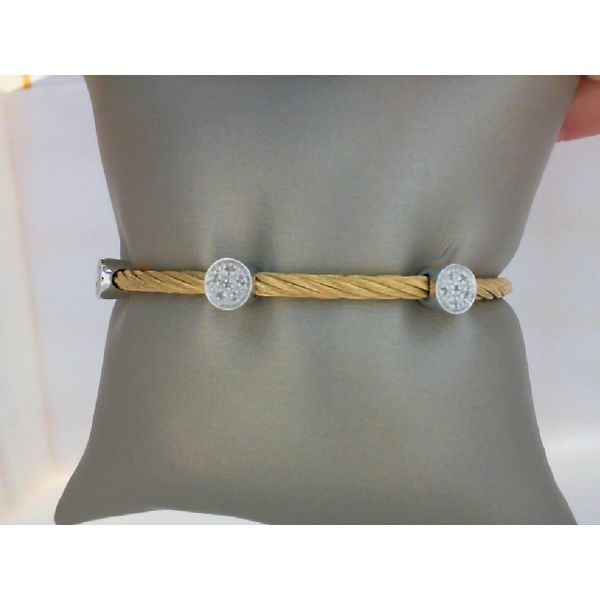 925 Sterling Silver Yellow Gold Rhodium Plated Diamond Bracelet Moseley Diamond Showcase Inc Columbia, SC
