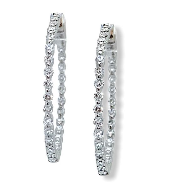 Javeri Jewelers diamond hoops
