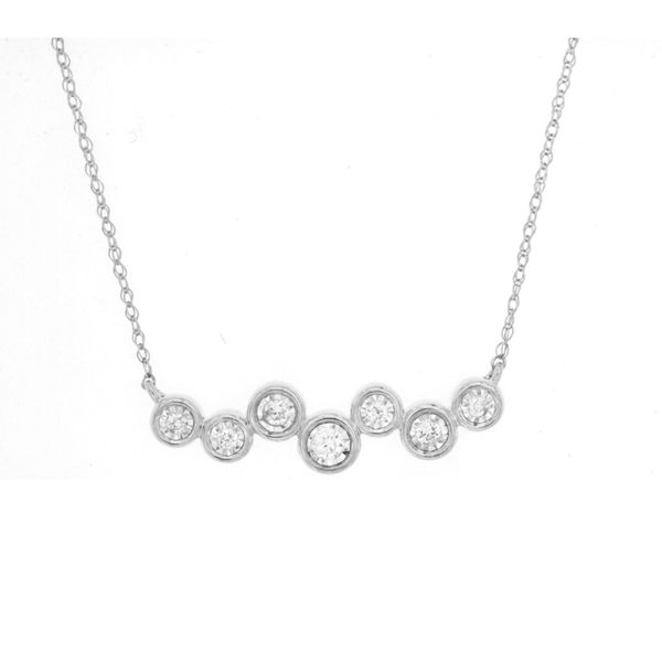 Javeri Jewelers diamond bar necklace