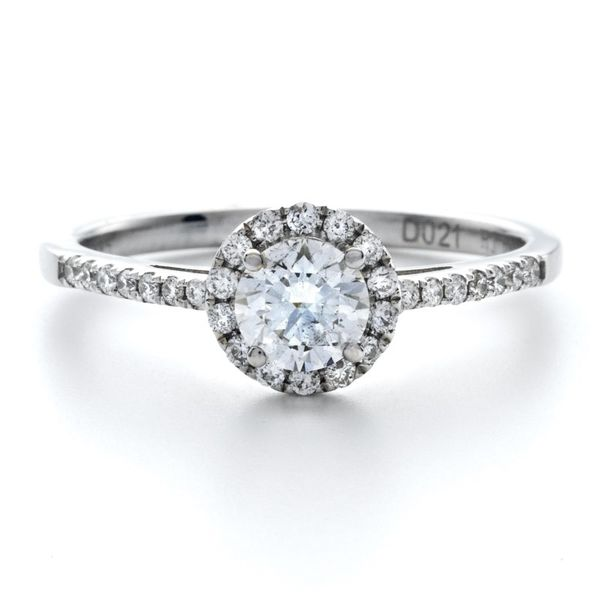 Lady's 18K White Gold Engagement Ring W/29 Diamonds Orin Jewelers Northville, MI