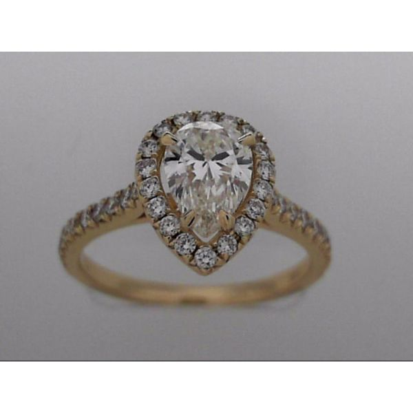 14k Yellow Gold Engagement Ring With 40 Diamonds Orin Jewelers Northville, MI