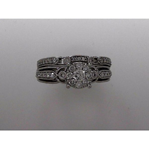 14k White Gold Wedding Set With 44 Diamonds Orin Jewelers Northville, MI