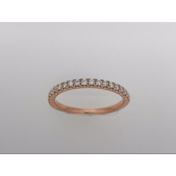 Lady's 14 Karat Rosé Gold Wedding Band With 20 Diamonds Orin Jewelers Northville, MI