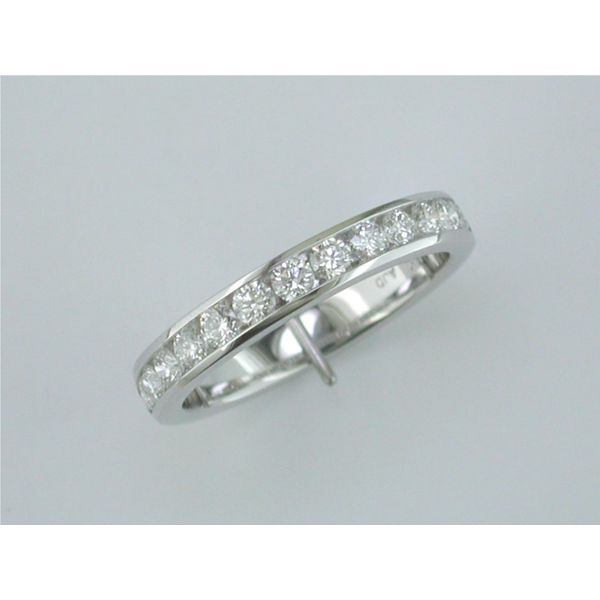 Lady's 18 Karat White Gold Wedding Band With 13 Diamonds Orin Jewelers Northville, MI