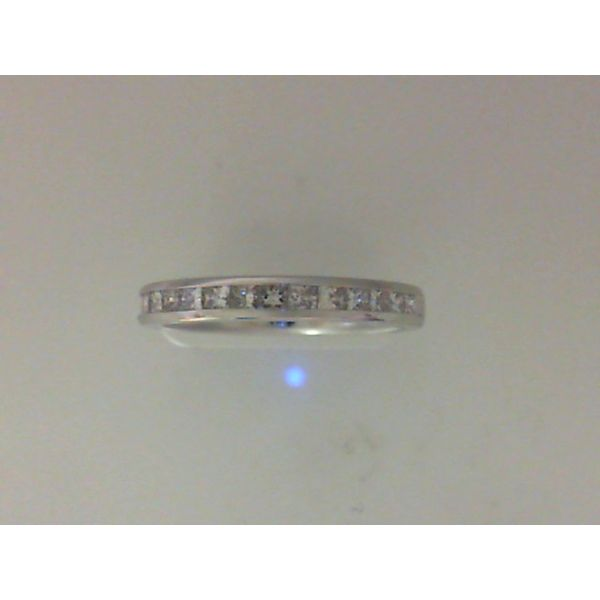 Lady's 14K White Gold Channel Set Wedding Band w/11 Diamonds Orin Jewelers Northville, MI