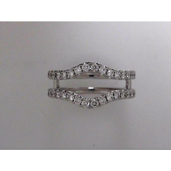 14 Karat White Gold Curved Wedding Band Guard With 36 Diamonds Orin Jewelers Northville, MI