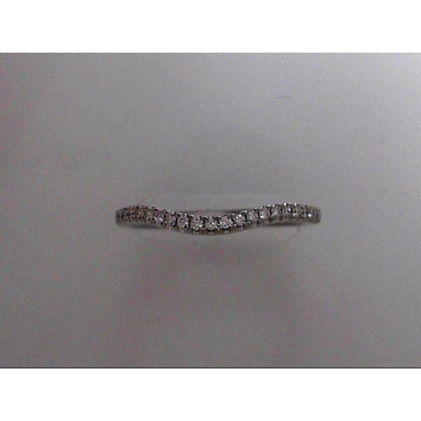 14 Karat White Gold Curved Wedding Band With 23 Diamonds Orin Jewelers Northville, MI