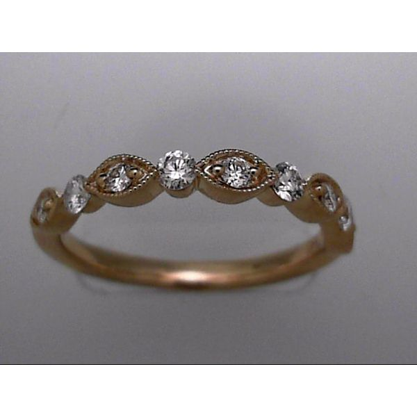 14 Karat Yellow Gold Wedding Band With 9 Diamonds Orin Jewelers Northville, MI