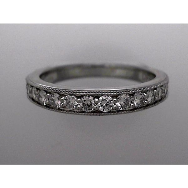 14 Karat White Gold Wedding Band With 15 Diamonds Orin Jewelers Northville, MI