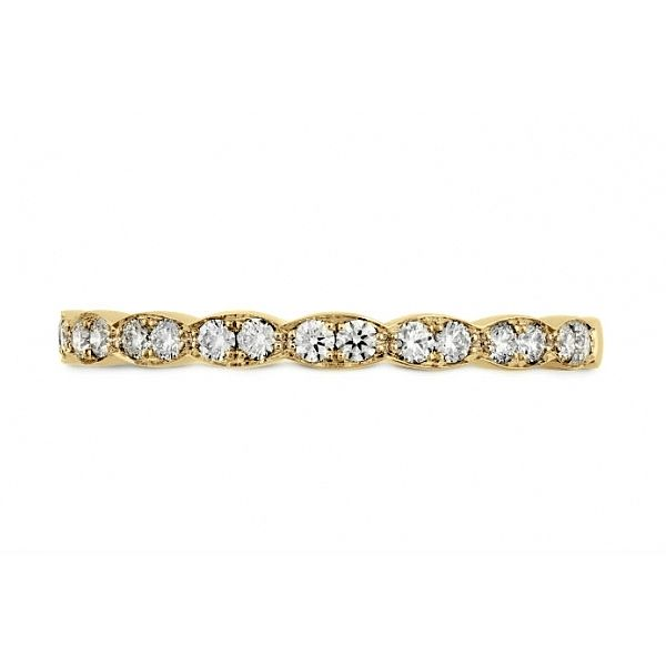 Lady's 18k Yellow Gold LORELEI FLORAL Wedding Band by Hearts on Fire Orin Jewelers Northville, MI