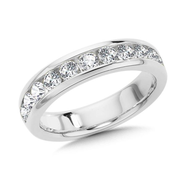 14k White Gold Band With 11 Diamonds Orin Jewelers Northville, MI