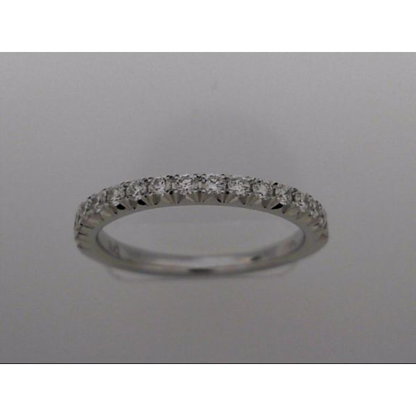 14 Karat White Gold Wedding Band With 17 Diamonds Orin Jewelers Northville, MI