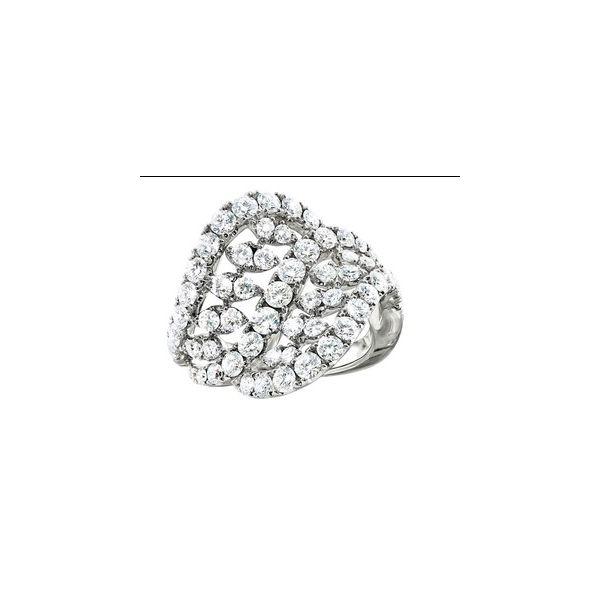 Lady's 18K White Gold Bellisima Fashion Ring W/60 Diamonds Orin Jewelers Northville, MI