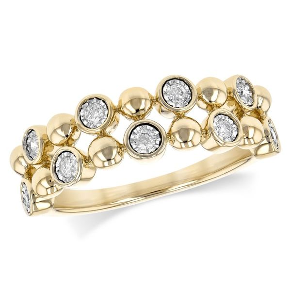 Lady's 14K Yellow Gold Fashion Ring w/9 Diamonds Orin Jewelers Northville, MI