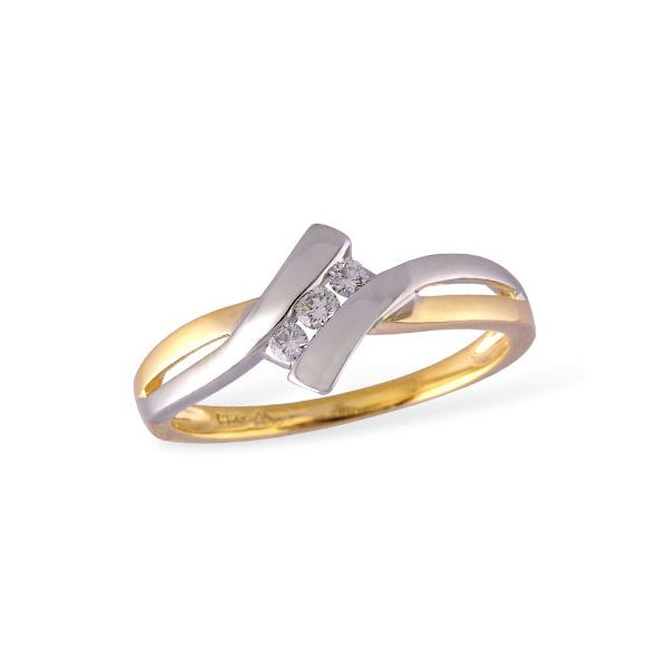 14k Two Tone Ring With 3 Diamonds Orin Jewelers Northville, MI