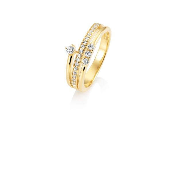 Lady's 14k Yellow Gold Fashion Ring With 21 Diamonds Orin Jewelers Northville, MI