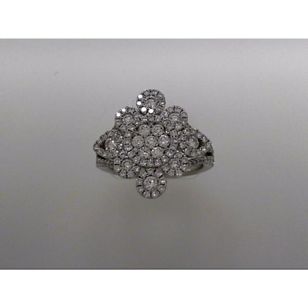 Lady's 18 Karat White Gold Fashion Ring With 135 Diamonds Orin Jewelers Northville, MI