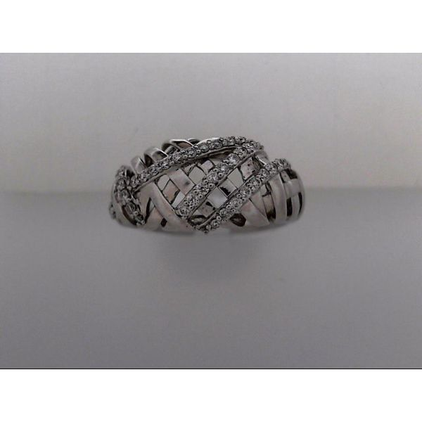 14 Karat White Gold Fashion Ring With 43 Diamonds Orin Jewelers Northville, MI