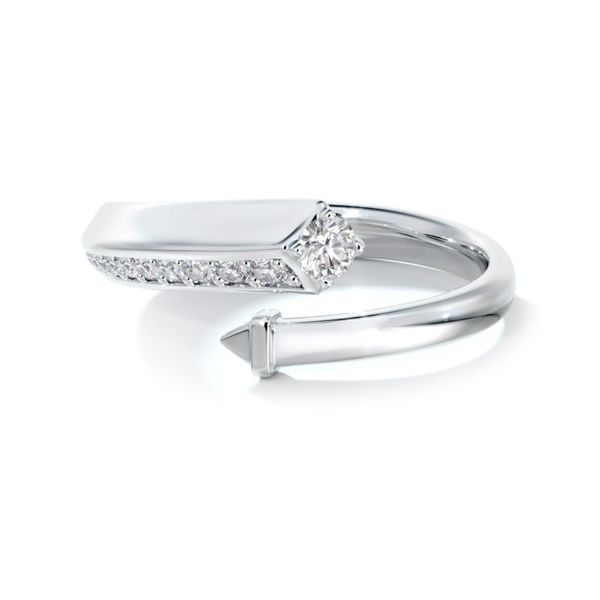 18kwg FOREVERMARK Bypass Fashion Ring With 12 Diamonds Orin Jewelers Northville, MI