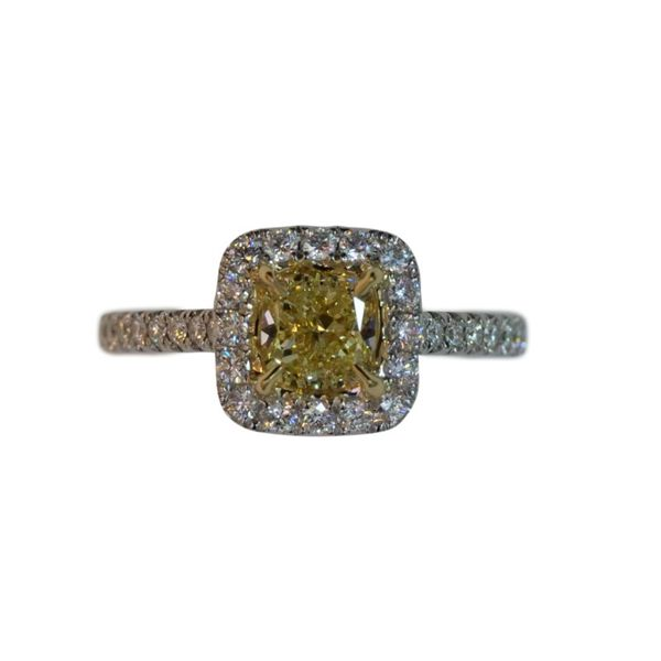 18k White Gold Yellow & White Diamond Ring Orin Jewelers Northville, MI