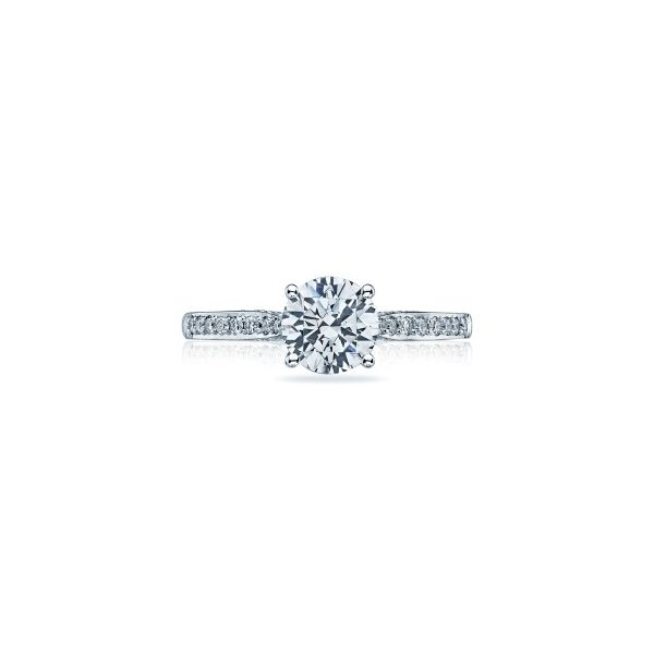 Lady's 18K White Gold Ring Mounting w/30 Diamonds & CZ Center Orin Jewelers Northville, MI