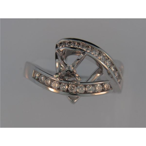 Lady's 14K White Gold Mounting w/20 Diamonds Orin Jewelers Northville, MI