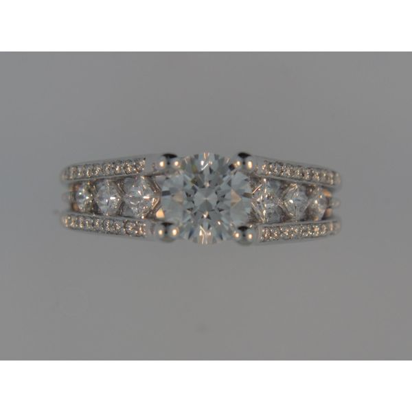 Lady's 14K White Gold Ring Mounting W/38 Diamonds Orin Jewelers Northville, MI