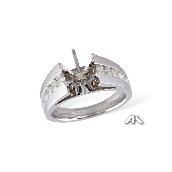 Lady's 14 Karat White Gold Ring Mounting With 10 Diamonds Orin Jewelers Northville, MI