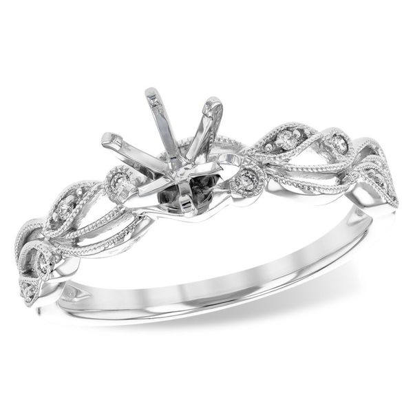 14k White Gold Ring Mounting With 8 Diamonds Orin Jewelers Northville, MI