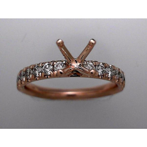 Rosé Gold 14 Karat Ring Mounting With 14 Diamonds Orin Jewelers Northville, MI
