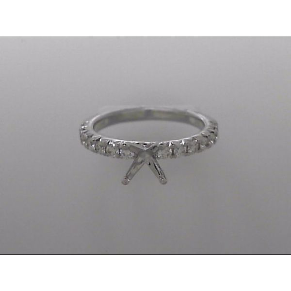 White Gold 14 Karat Ring Mounting With 14 Diamonds Orin Jewelers Northville, MI
