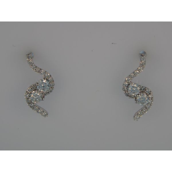 Lady's 14K White Gold Earrings w/40 Diamonds Orin Jewelers Northville, MI