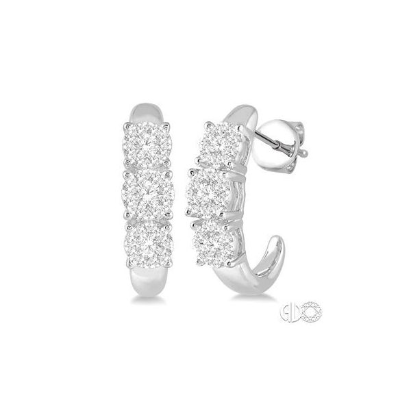 14k White Gold Earrings With 48 Diamonds Orin Jewelers Northville, MI