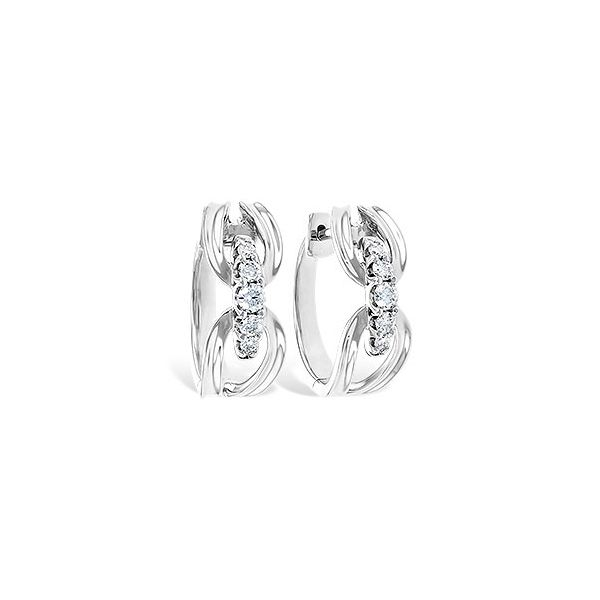 14k White Gold Earrings With 10 Diamonds Orin Jewelers Northville, MI