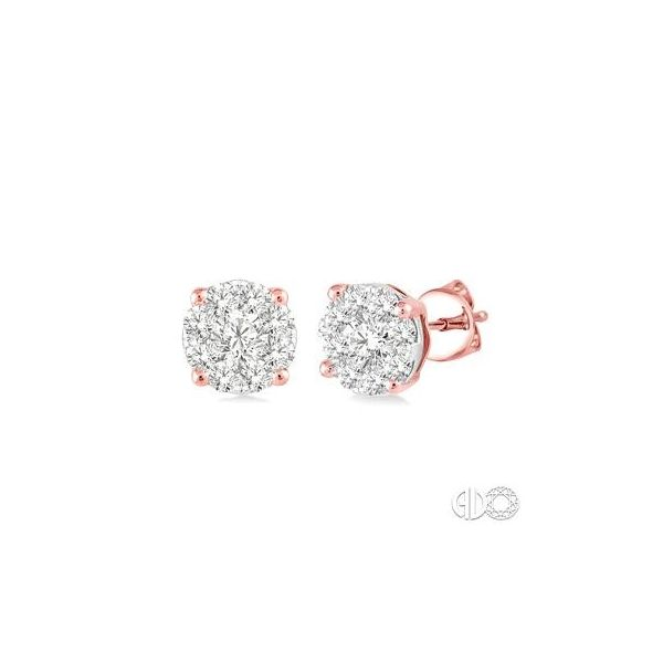 14k Rosé Gold Earrings With 18 Diamonds Orin Jewelers Northville, MI