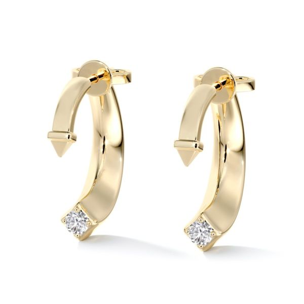 18k Yellow Gold Hook Fashion Earrings With 2 Diamonds Orin Jewelers Northville, MI
