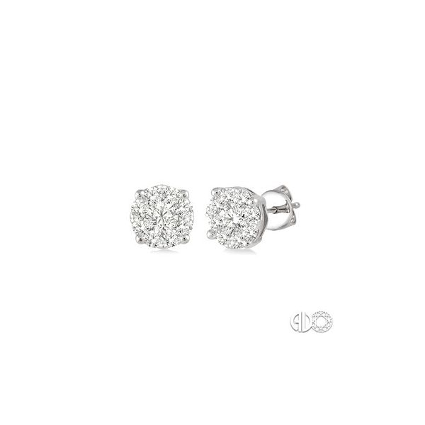 14 Karat White Gold Lovebright Earrings With 18=0.35Tw Round H/I Si1-2 Diamonds Orin Jewelers Northville, MI