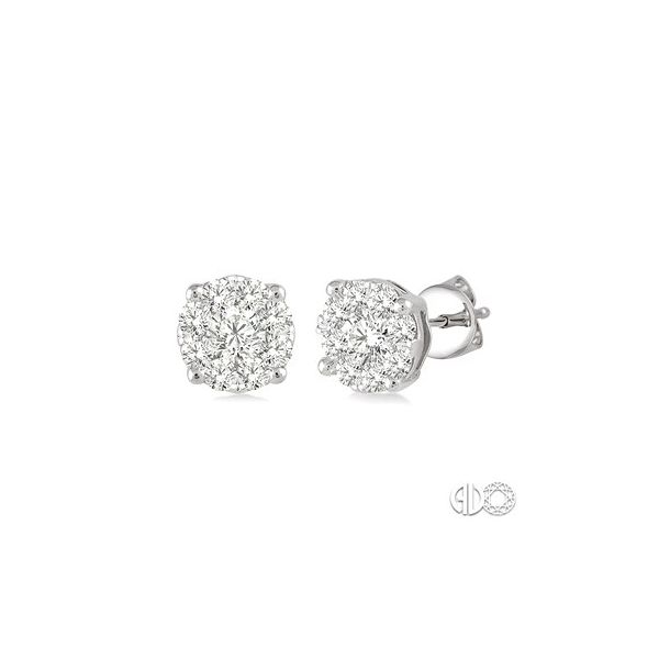 14k White Gold Earrings With 18 Diamonds Orin Jewelers Northville, MI