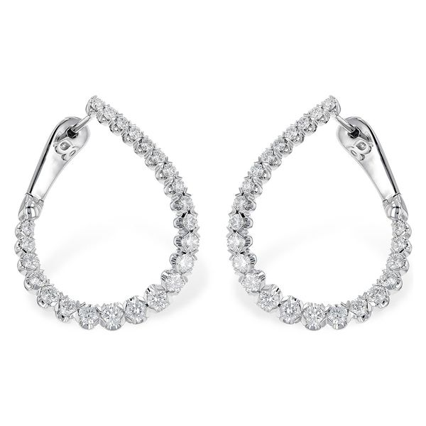 14k White Gold Earrings With 46 Diamonds Orin Jewelers Northville, MI